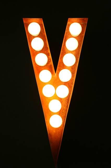 Light up letter