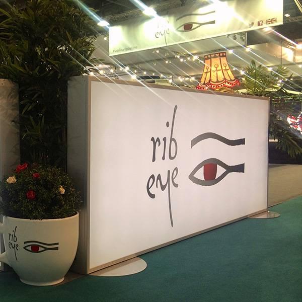 Lightbox sign white rib eye