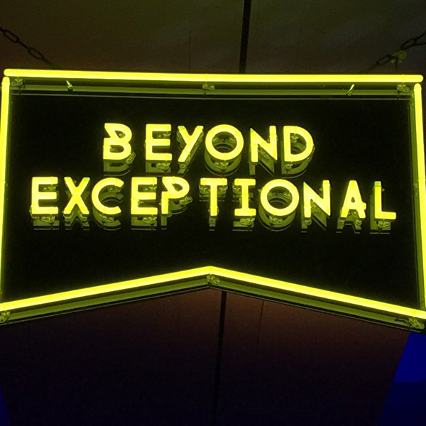 faux neon sign yellow Beyond Exceptional