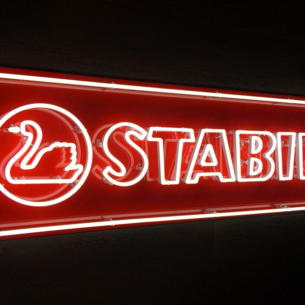 Neon light sign red Stabilo