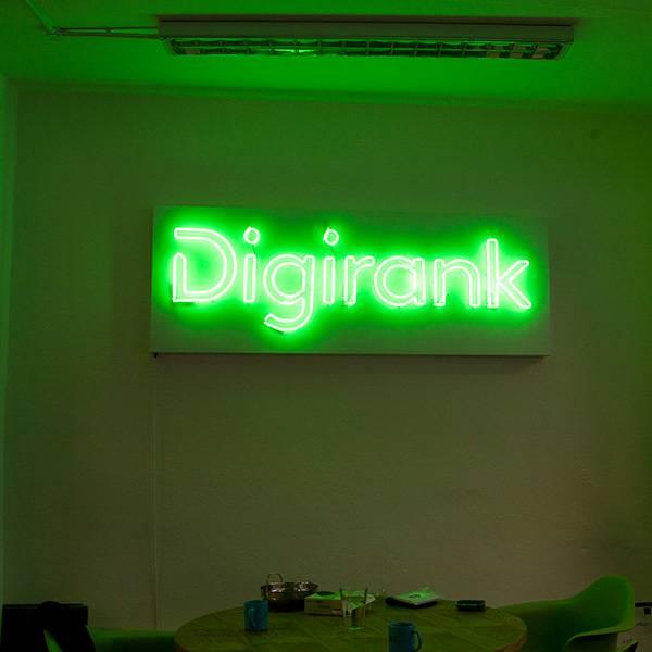 Neon light sign green Digirank