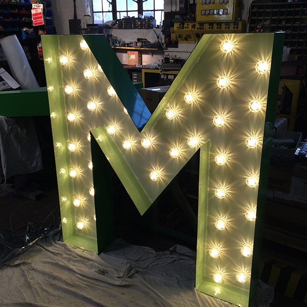 fairground light up sign M
