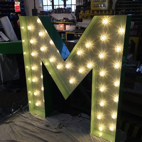 fairground light up sign M