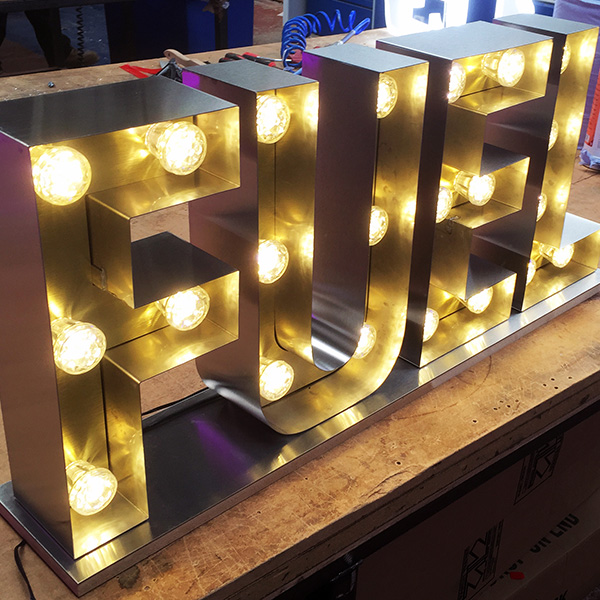 Fairground light up letters Fuel