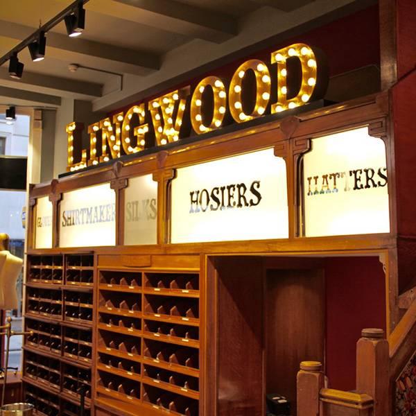 Fairground light up sign vintage Letters Lingwood