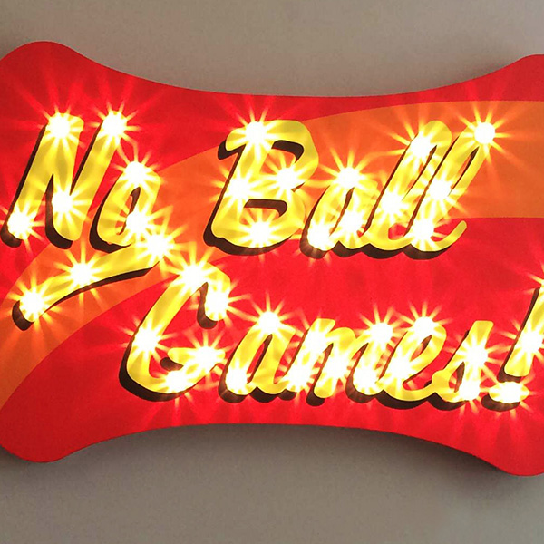 fairground lights vintage No Ball Games