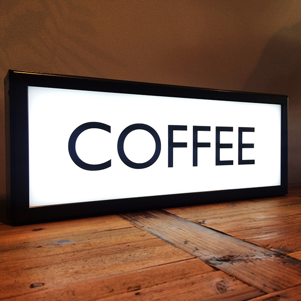 Lightbox vintage white coffee