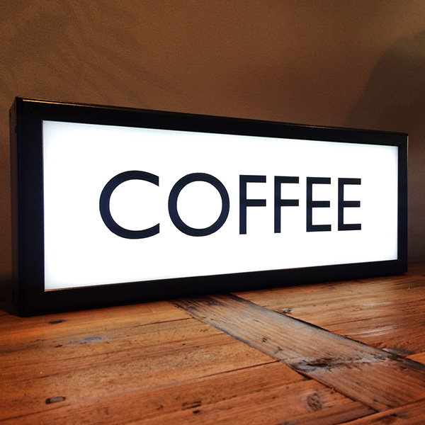 Lightbox vintage white coffee