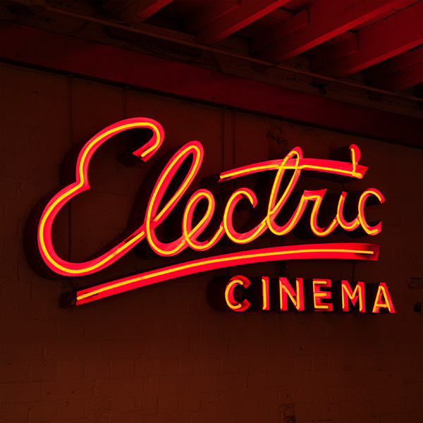 neon light writing red electric cinema