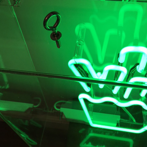neon light sign green