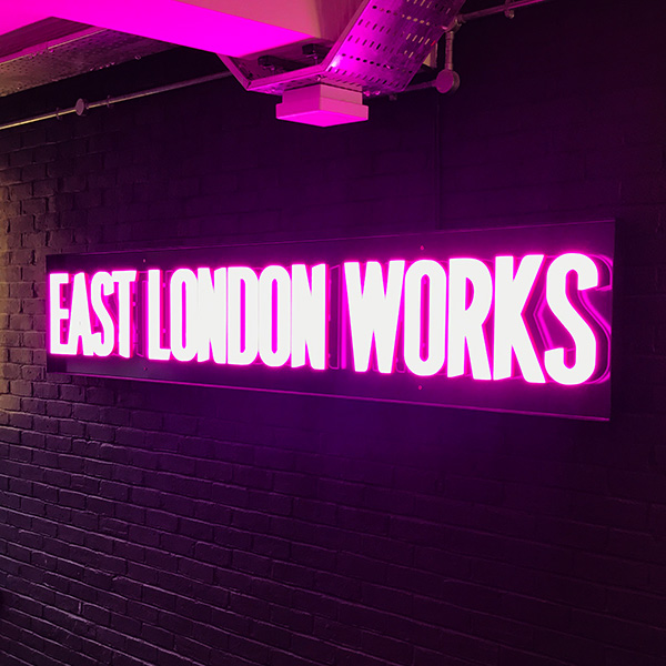 Ultra neon East London works pink