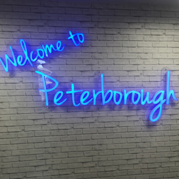 Neon Ultra Welcome to Peterborough blue