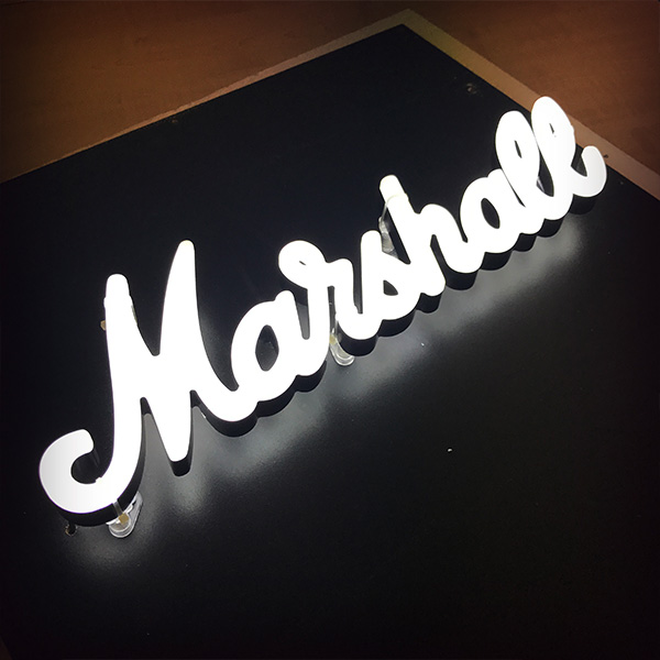 Neon Ultra sign faux neon white Marshall