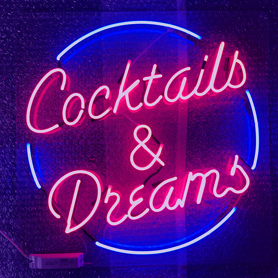 Cocktails & Dreams - Neon Light - Carousel Lights