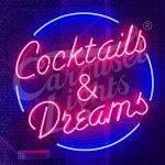 Cocktails & Dreams Neon Light