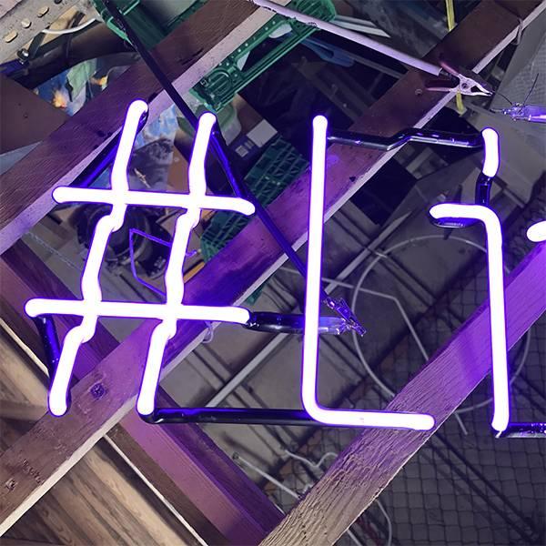 Hashtag neon