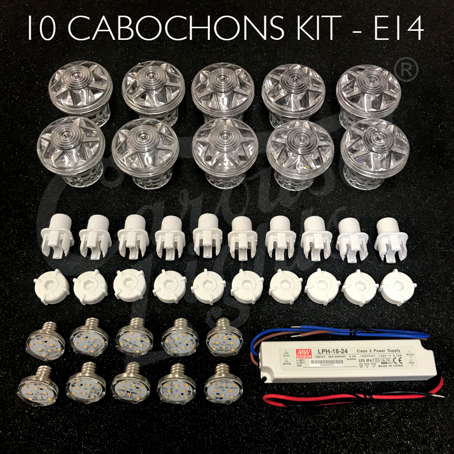 Fairground Lighting Kit 10 Cabochons E14