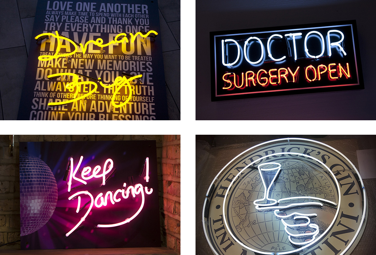 Neon Signs with Vinyl