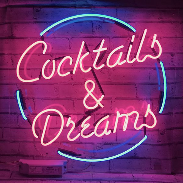 Cocktails and Dreams neon