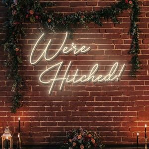 Were Hitched neon sign